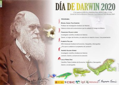 Darwin day. CCHS-CSIC (Madrid), 12 February 2020